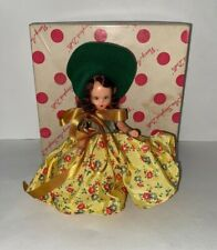 "5.5"" Nancy Ann Storybook Doll 92 Season Series Autumn Yellow Dress Aa N383 Pd"