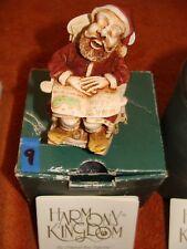 "Rare Harmony Kingdom Santa Claus ""Jingle Bell Rock"" - Trinket Box/ Figurine- New"