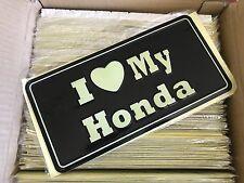 2x I Love My Honda License Plate JDM (2 for price of 1)