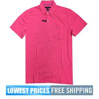 Tommy Hilfiger NWT Men's WSTCOASTR2 Azalea 100% Cotton Polo Shirt Free Shipping