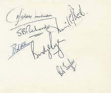 ENGLAND RUGBY - 6 AUTOGRAPHS ON ALBUM PAGE INC ENGLISH INTERNATIONALS + COA