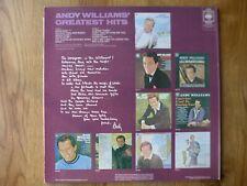 Andy Williams Greatest Hits. Original  vinyl LP, unplayed