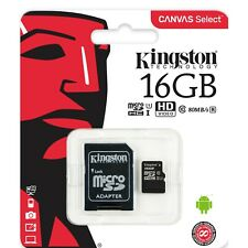Kingston Class 10 16GB MicroSD Card with SD Adapter TF Samsung Android Nintendo