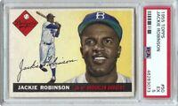 Jackie Robinson 1955 Topps Baseball Card Graded PSA 5 EX Brooklyn Dodgers #50