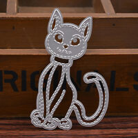 Cat Metal Cutting Dies Stencil DIY Scrapbooking Embossing Album Paper Craft