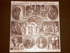 Teatro nel 1922 La passione di Ober Ammergau - Veit, Rendl, Lang, Mayr, Rutz