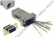 200pk DB9 pin Female~RJ45 Jack Modular Adapter 8P8C for Network/Ethernet,Cat5e/6