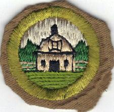 BOY SCOUT FARM LAYOUT SAND FINE TWILL MERIT BADGE (TYPE D) 1942-1946