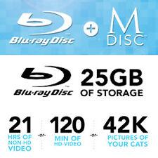 M-Disc Bluray 1000 Year Media, BD-R 25 GB 4x (10 Pack)