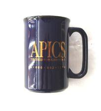 APICS--COBOLT BLUE & GOLD MUG--4 3/4 INCHES TALL-- THE PERFORMANCE ADVANTAGE