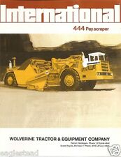 Equipment Brochure - International - IH 444 - Pay Scraper - 1973 (EB858)