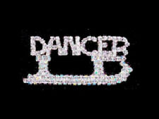 Sparkling Swarovski Crystal Dancer Blade Skating Lapel Pin ELEGANT