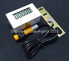 Lcd Digital 5-Digit Punch Counter w/Strong Magnetic, Proximity Switch & Support