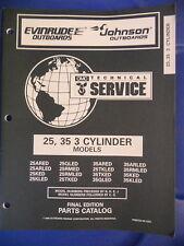 Omc Evinrude Johnson Outboards Parts Catalog 25 35 3 Cylinder Models