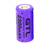 GTL 3.7V CR123A 16340 2300mAh Rechargeable Lithium Li-ion Battery Cell Camera