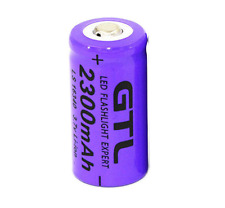 GTL 3.7 V CR123A 16340 2300 mAh Lithium Rechargeable Batterie Li-Ion Cellule appareil photo