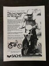 Vintage 1978 Sachs Hercules 7-Speed Enduro Full Page Original Ad