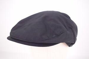 Wigens NWT Cotton Blend Newsboy Cap in Solid Black Sz 59, 7 & 3/8ths