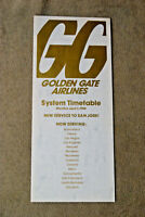 Golden Gate Airlines System Timetable - April 1, 1980 - With Adjustment Sheet