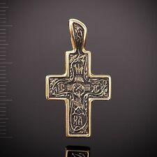 Russische Kreuzanhänger Silber 925 vergoldet 999° Anhänger 5.4g Голгофский крест