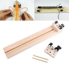 DIY Wooden Stick Round Jig Solid Paracord Bracelet Maker Knitting Craft Tool