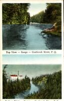 Vintage Postcard , Multi view-  Coaticook, Quebec, Canada -1928