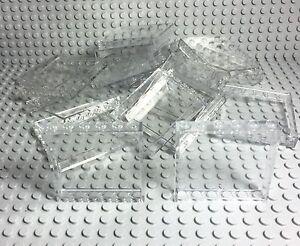 Lego 15 Pieces Transparent / Trans-Clear Panels 1x6x5 City Walls / Window Parts