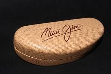 MAUI JIM Eyeglass Empty Case ONLY Sunglass Clamshell Brown Tan Weave with cloth