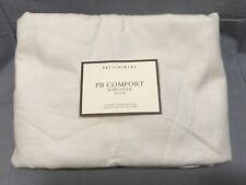 Pottery Barn PB Comfort Roll Left-Arm Ivory Loveseat Box Edge Slipcover