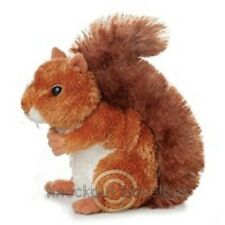 Nutsie The Brown Squirrel Aurora Plush Stuffed Animal Toy Cute Cuddly 8 Inches