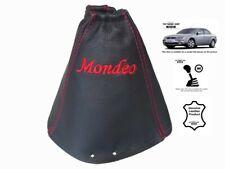 """Schaltmanschette Schaltsack Fur Ford Mondeo MK3 2001-2003 Leder """"Mondeo"""" Rot"""