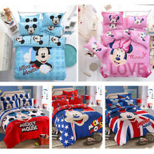 Disney Comforter Cover Sheet Pillowcases Bedding set Mickey Minnie Mouse Cartoon