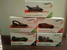 Hot Wheels Id Lot of 5 Shark Hammer-Scorpedo-Aston martin-Night Burner-Jeep Dj