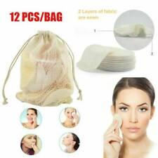 12 *Reusable Makeup Remover Pad Facial Cleansing Pad Makeup Bamboo Cotton US