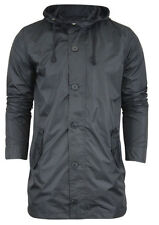 Polyester Hooded Button Regular Size Coats & Jackets for Men