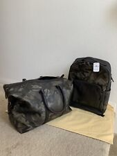 $1250 NWT Trekker Duflle & Matching Graham Backpack with Camo print