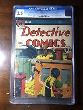 Detective Comics #50 (1941) - Golden Age Batman and Robin! - CGC 3.5!