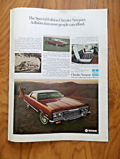 1973 Chrysler Special Edition Newport Ad
