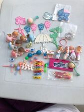 Vintage Girl/Boy Baby Shower Decorations Angels Baby Cake Toppers