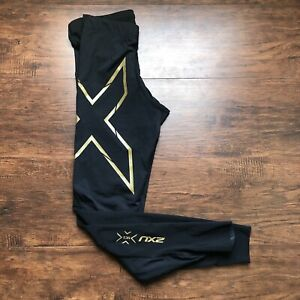 2XU Men's Compression Tight Back/Gold Size Medium