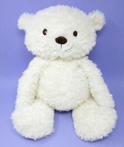 """Marks Spencer v. large white cream teddy bear comforter soft toy M&S 9714618 23"""""""