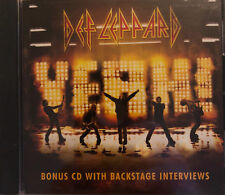 DEF LEPPARD: YEAH! BONUS CD WITH BACKSTAGE INTERVIEWS! BRAND NEW FACTORY SEALED!