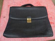 Lancel cartable en cuir noir foulonné porté vintage
