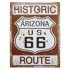 Blechschild HISTORIC ROUTE 66 Nostalgie Vintage Straßenschild 33x25cm
