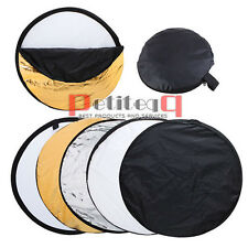 110cm Photo 5-in-1 Studio Reflector Collapsible Free Stand Panel Bag UK 43'' E