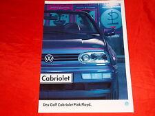 """VW Golf III Cabriolet """"Pink Floyd"""" Sondermodell Prospekt von 1994"""