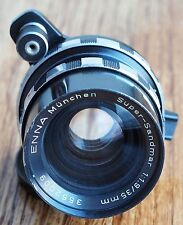 Enna 35mm 1.9 Super Sandmar lens, Exakta Sockel mount | 35 f1.9 Lithagon 35/1.9