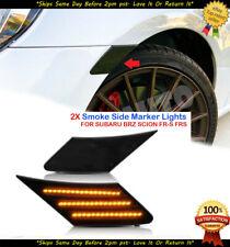 Fits 2013-2020 Toyota 86 FR-S Sabura BRZ 2pcs BLACK Lens Amber Side Marker Lamp