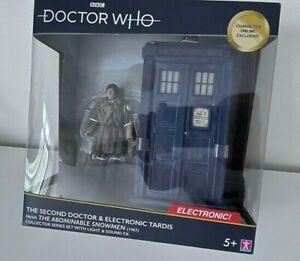 "2nd Doctor Who Abominable Snowman Electronic TARDIS Fur Coat 5"" Figure"