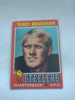 TERRY BRADSHAW 1971 Topps Rookie #156 Pittsburgh Steelers RC HOF